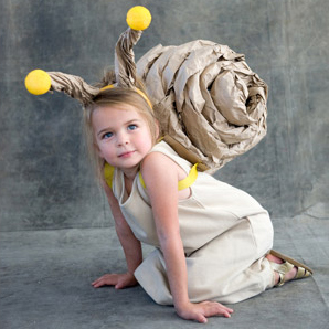 How-To: Kraft Paper Snail Costume