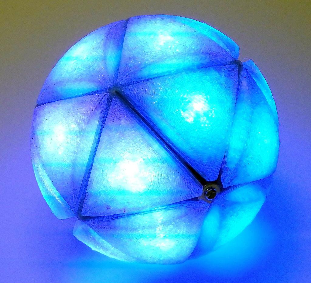 IcosaLEDron: 20-Sided LED Ball