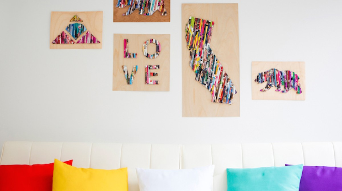 How-To: Magazine Page Wall Art