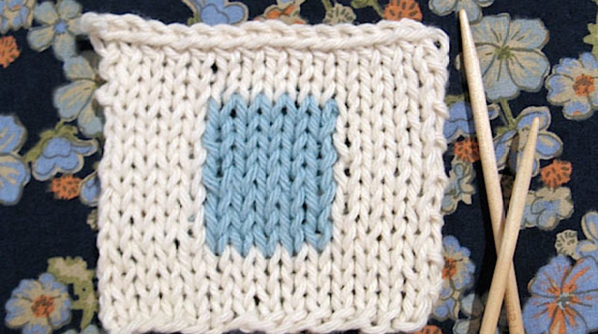 Flashback: Intarsia 101: Add a Color Design to Your Knitting