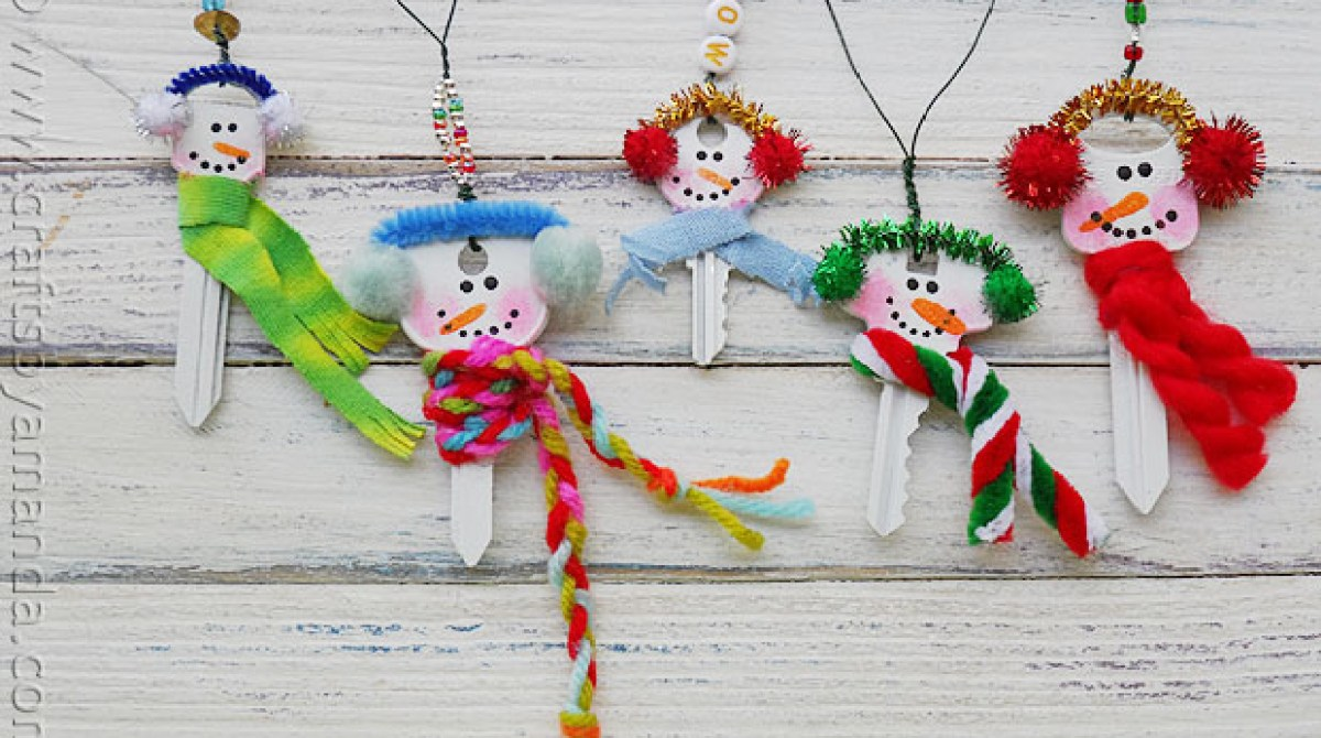 How-To: Recycled Key Snowman Ornaments