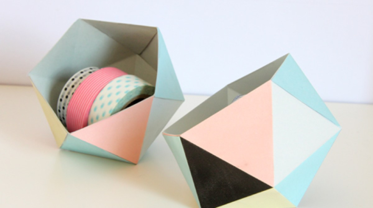 How-To: Geometric Paper Catch All