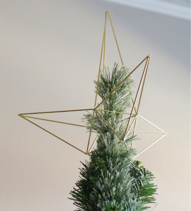 How-To: Geometric Himmeli-Style Star Tree Topper