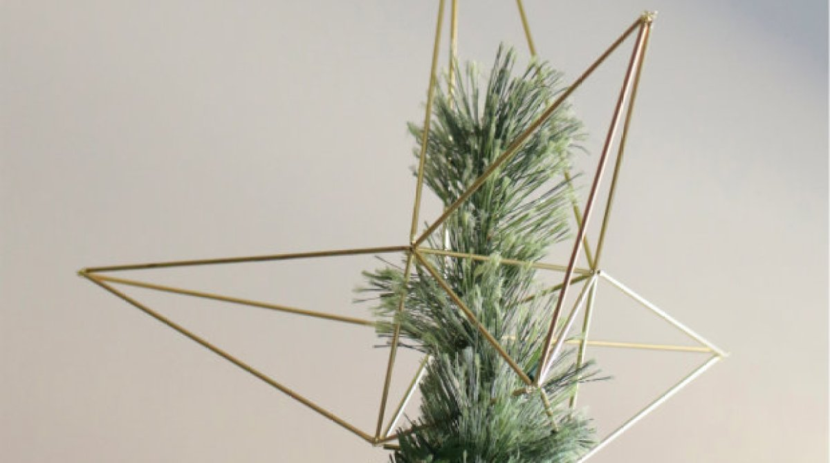 How To Geometric Himmeli Style Star Tree Topper Make