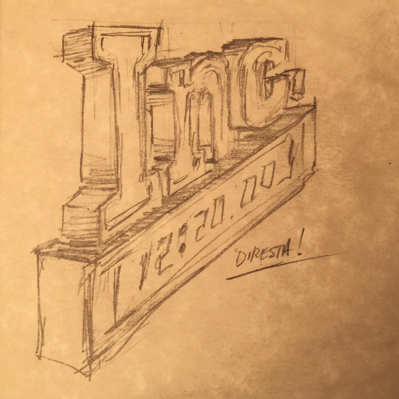 DiResta: Inc. Clock Sign