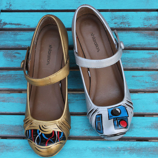How-To: Star Wars-Inspired Painted C-3PO and R2-D2 Shoes