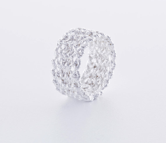 Hand Knit Silver Jewelry