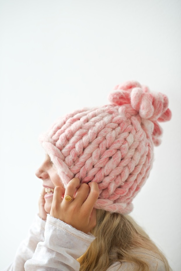 How-To: Super-Bulky Knitted Hat