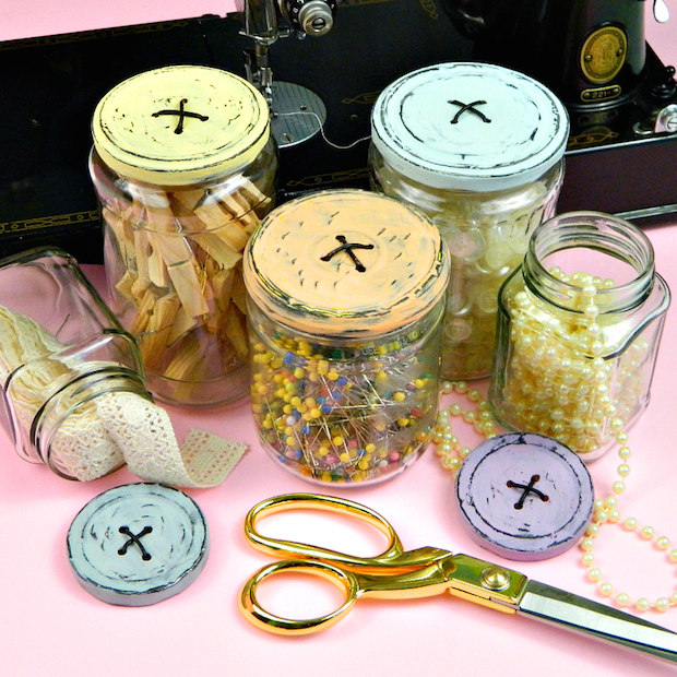How-To: Button Lid Jars