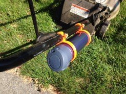 Lawnmower Handle Bottle Holder