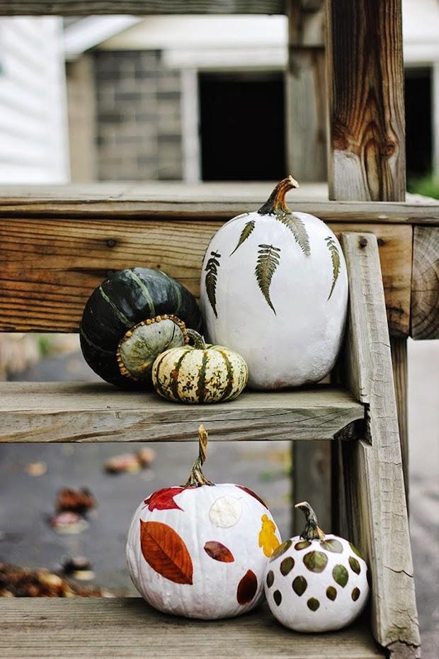 How-To: Foliage Decoupaged Pumpkins