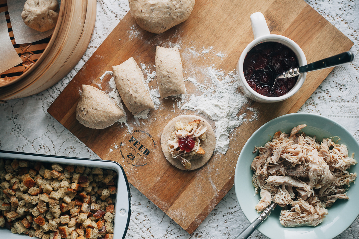 Thanksgiving Leftovers Rye Steamed Buns Recipe
