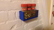 Storage Shelf with Decorative Insert