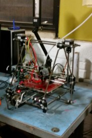 Reprap 3D printer built by members of Make Lehigh Valley