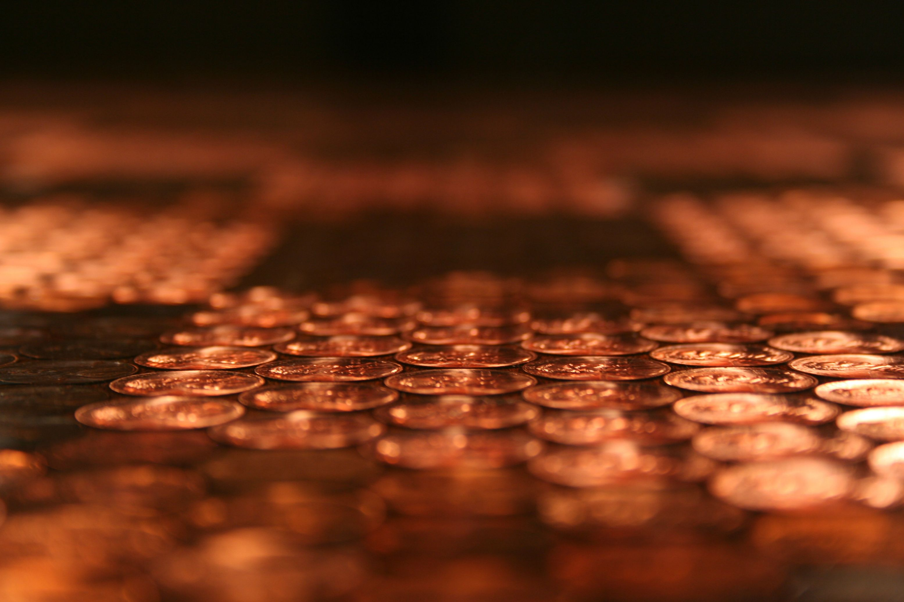 This Tabletop Has Over 5000 Pennies Embedded In It