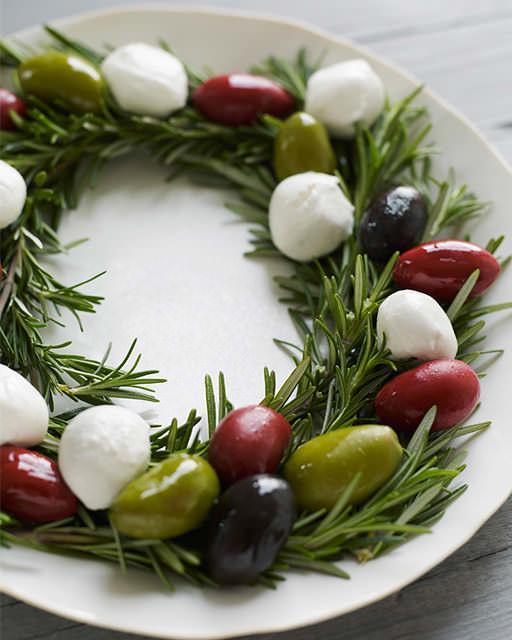 Holiday Anipasto Wreath Recipe