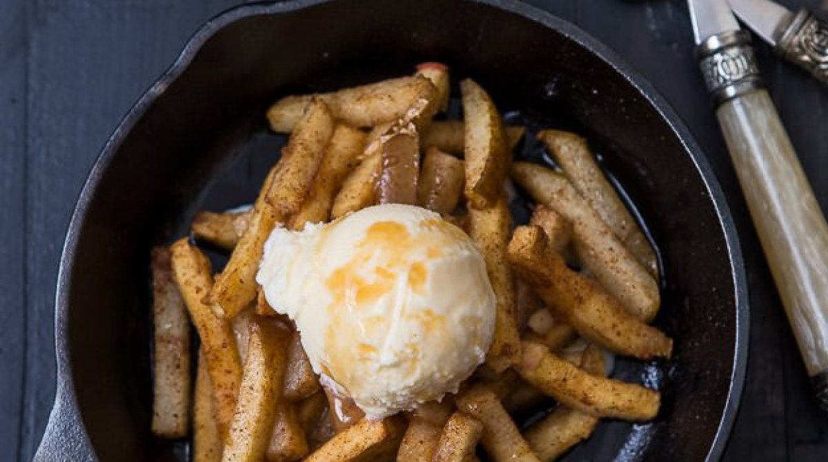 Baked Pear and Apple Fries Recipe