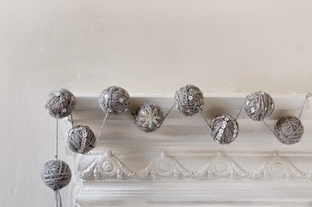 How-To: Sequin and Yarn Ball Garland