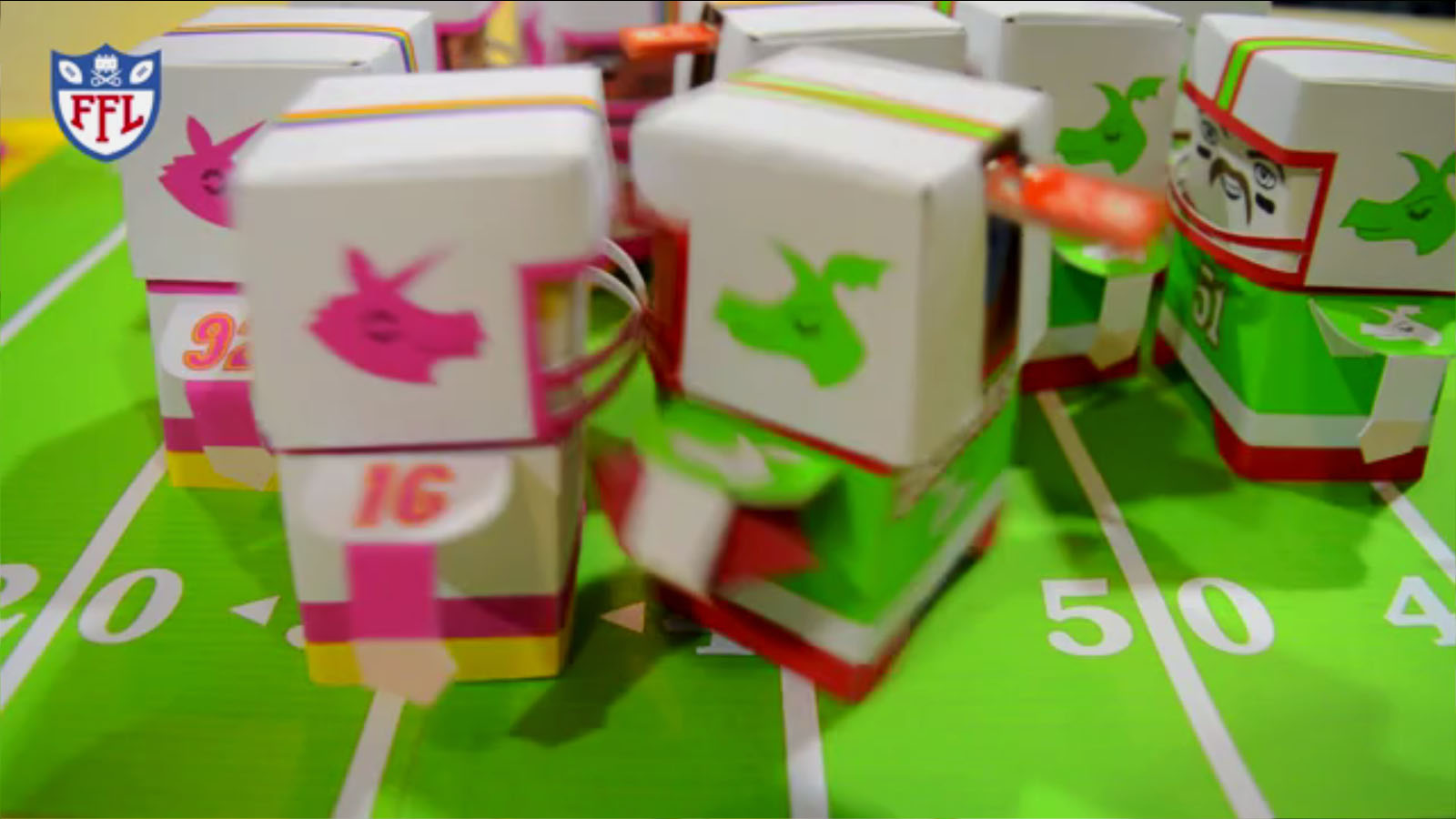 Fizzbit Football Game Made from Paper