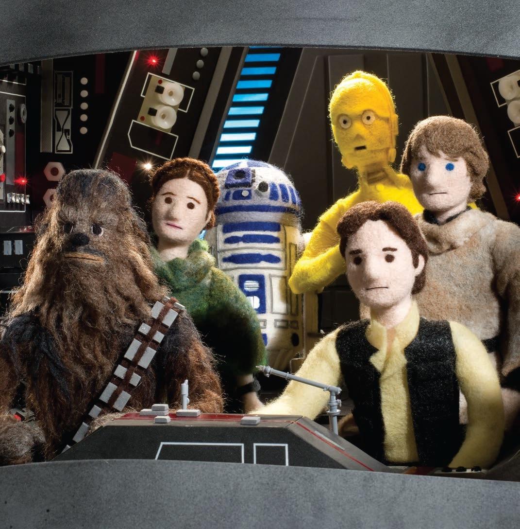 Star Wars Scenes In Felt