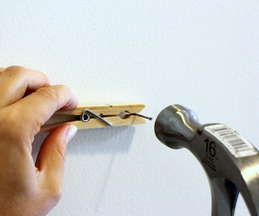 Hammer a Nail with a Clothespin