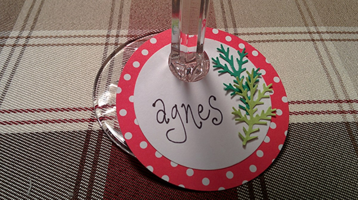 Project: Personalized Paper Wine Glass Charms