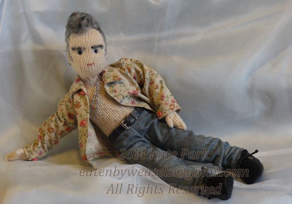 Knitted Morrissey Dolls