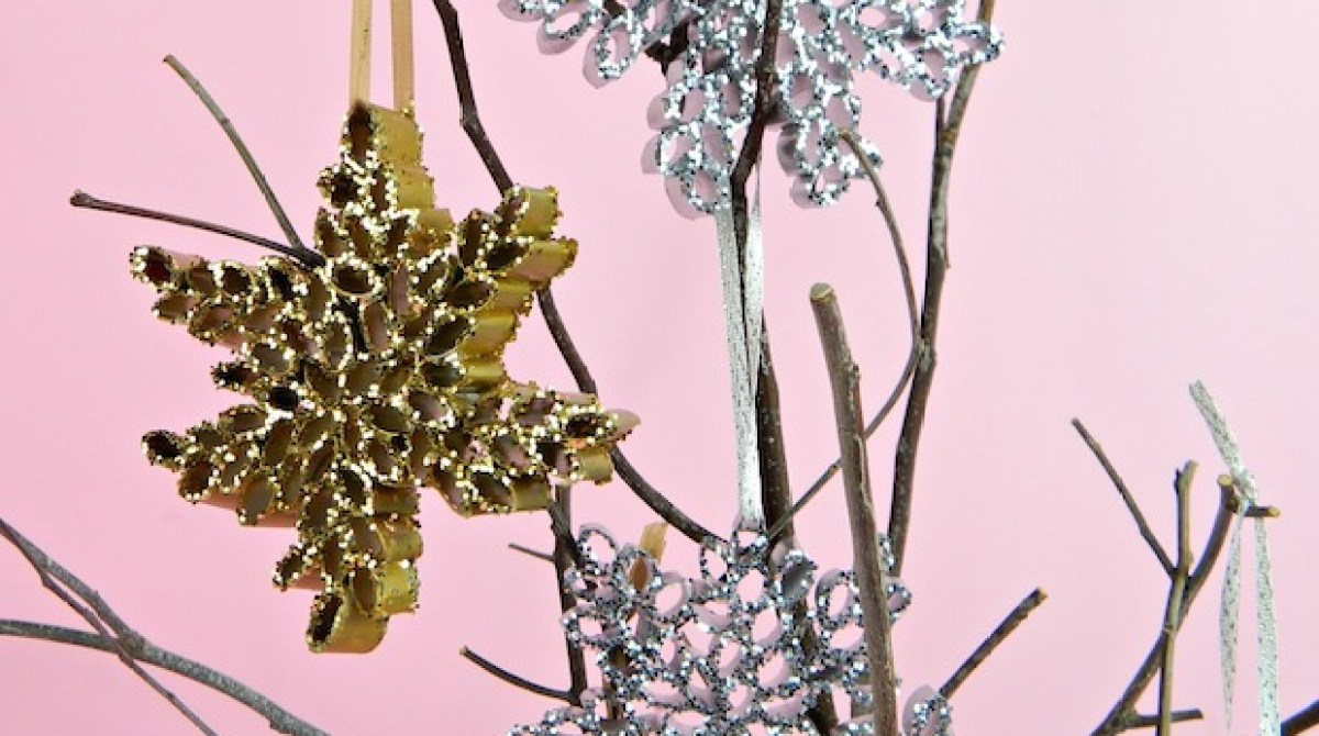 How-To: Recycled Magazine Snowflake Ornaments