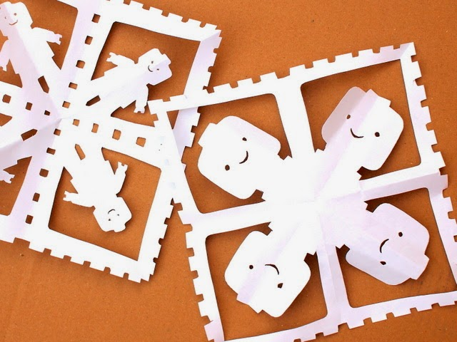 How-To: Lego Inspired Paper Snowflake