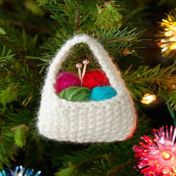 How-To: Yarn Basket Ornament