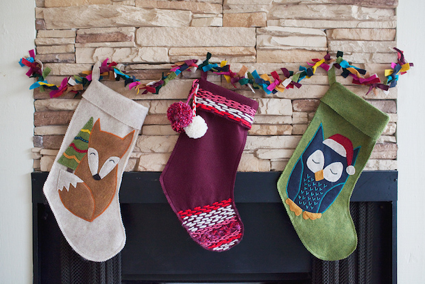 How-To: Last-Minute Stitched Felt Stockings