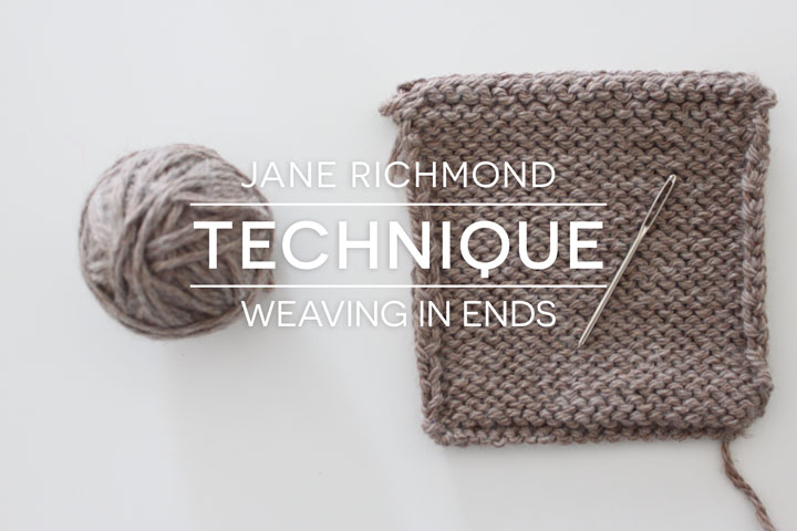 Weaving In Ends: Invisible vs. Visible Methods