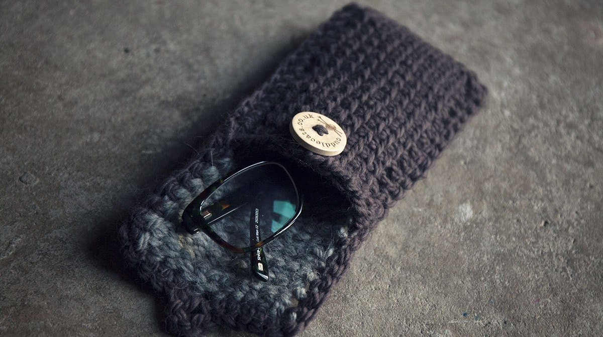 DIY Tunisian Crochet Glasses Case