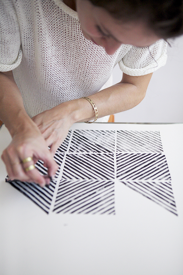 How-To: Geometric Paper Stamping and Wall Art