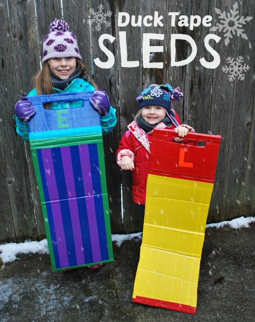 How-To: Duct Tape Sleds