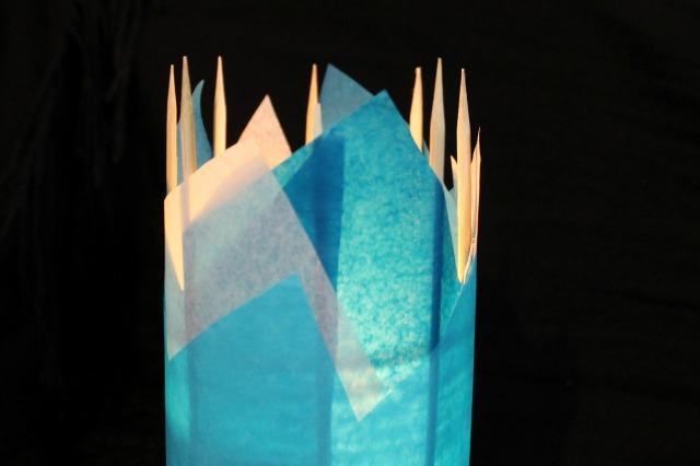 """DIY Ice Palace """"Flameless"""" Candle Holder"""