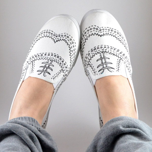 How-To: Hand-Drawn Faux Oxford Sneakers