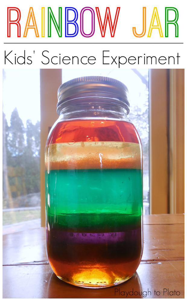 Kid Crafts: Rainbow Jar Science Experiment