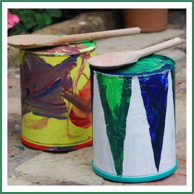 Kid Crafts: Tin Toy Drums