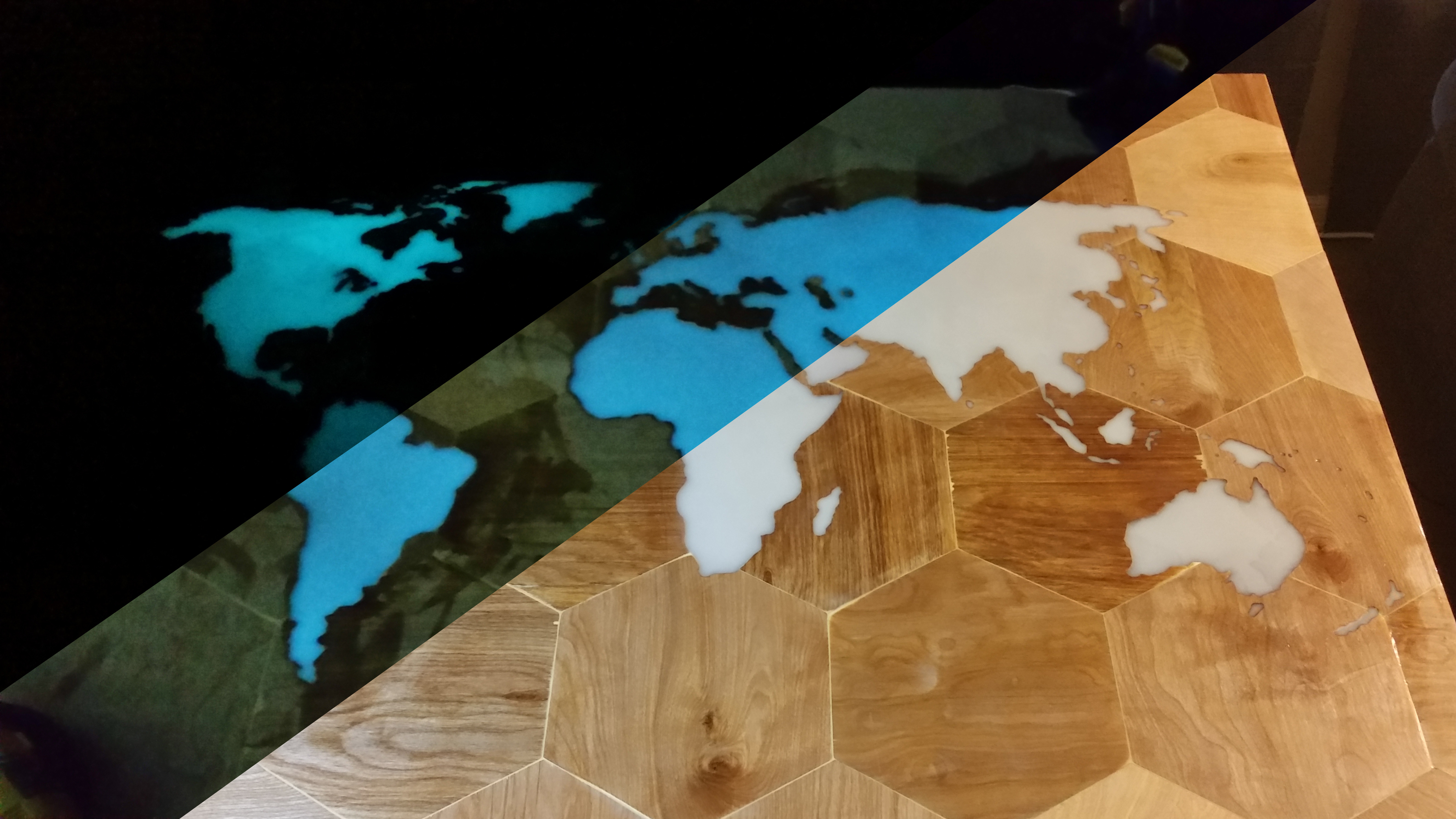 Gorgeous Glow-in-the-Dark CNC Map Table