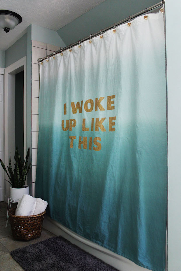 """How-To: """"I Woke Up Like This"""" Shower Curtain"""