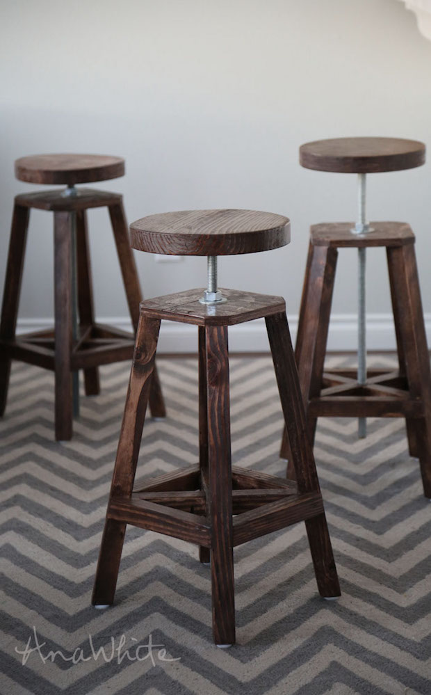 Bottoms Up: Build These Stylish Adjustable-Height Bar Stools