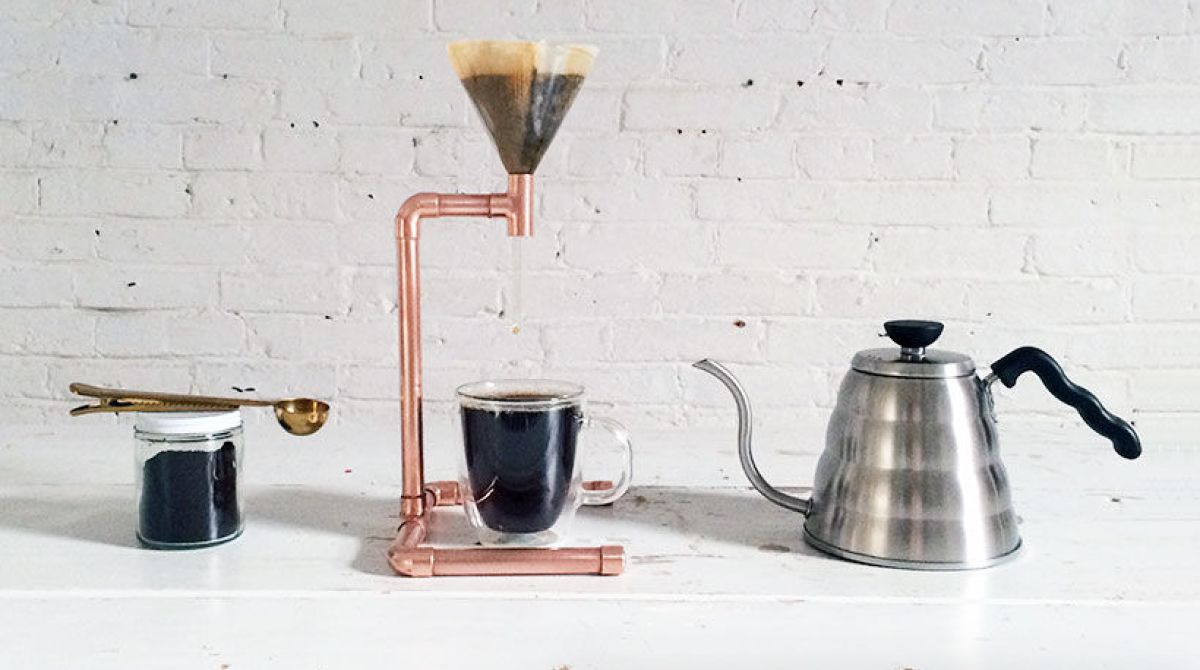 DIY Copper Pipe Coffee Maker