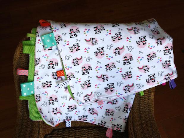 Flashback: Tag Happy Baby Blanket