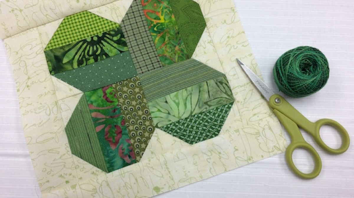 Sew Lucky: Four-Leaf Clover Quilt Block