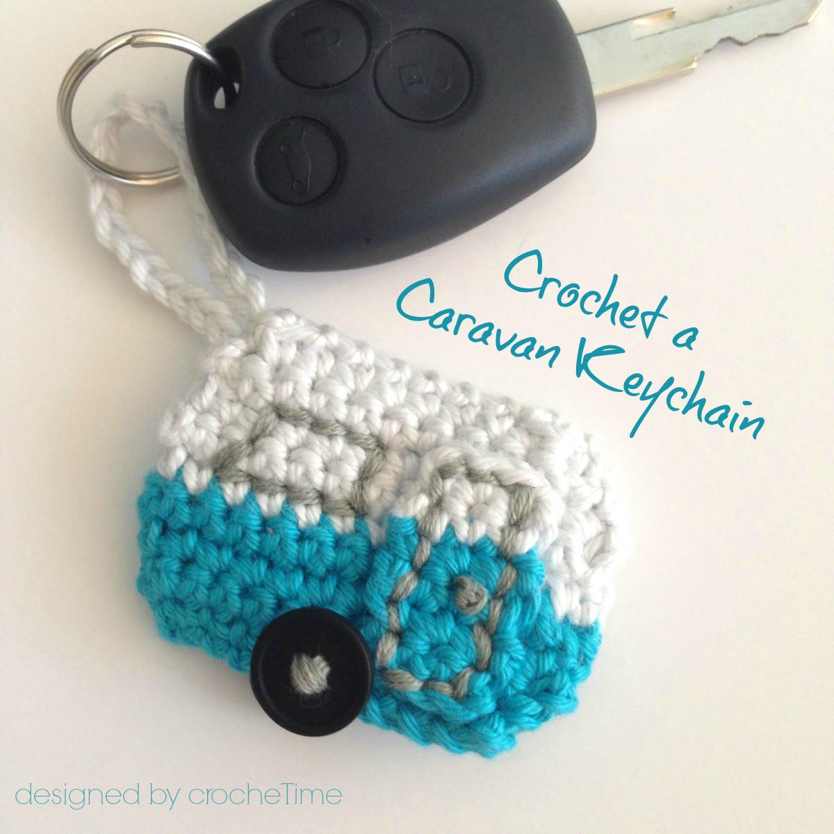 Crochet A Caravan For Your Keychain