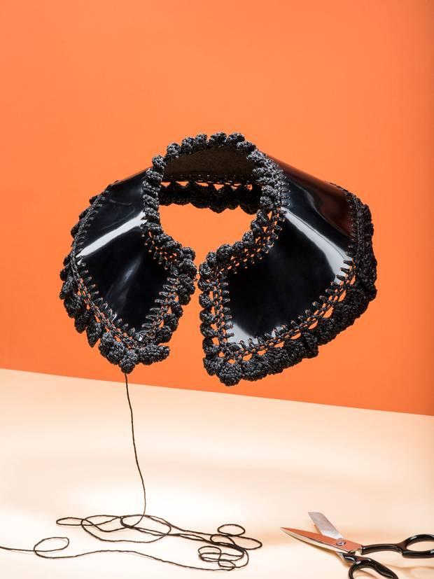 DIY High Fashion Crocheted Collar