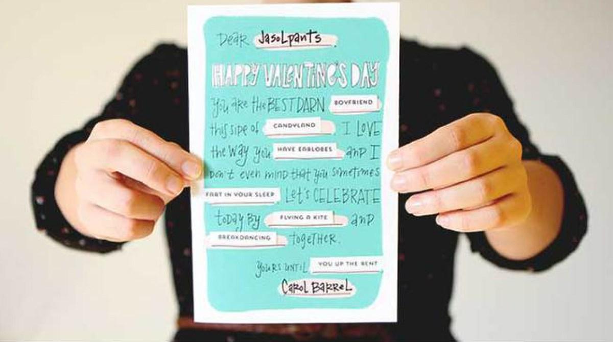Printable Mad Libs Valentines