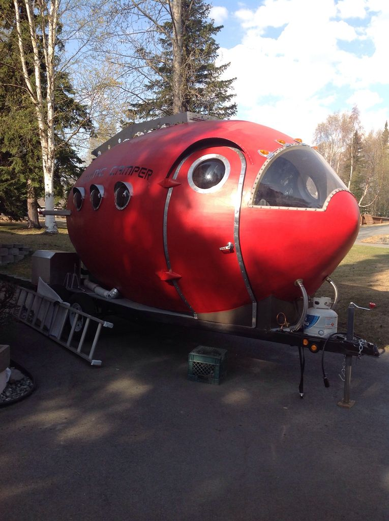 Blast Off with this Homemade Atomic Age Rocket Camper