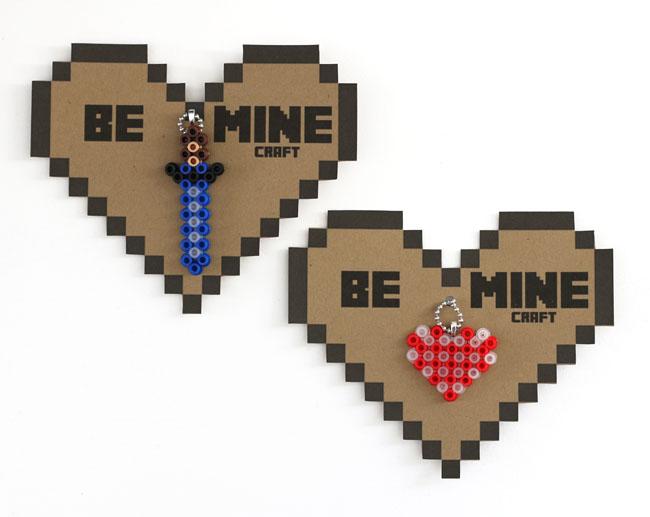 Minecraft Perler Bead Valentines